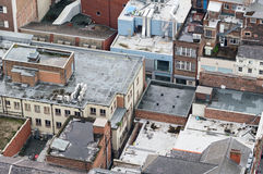flat roofs in city