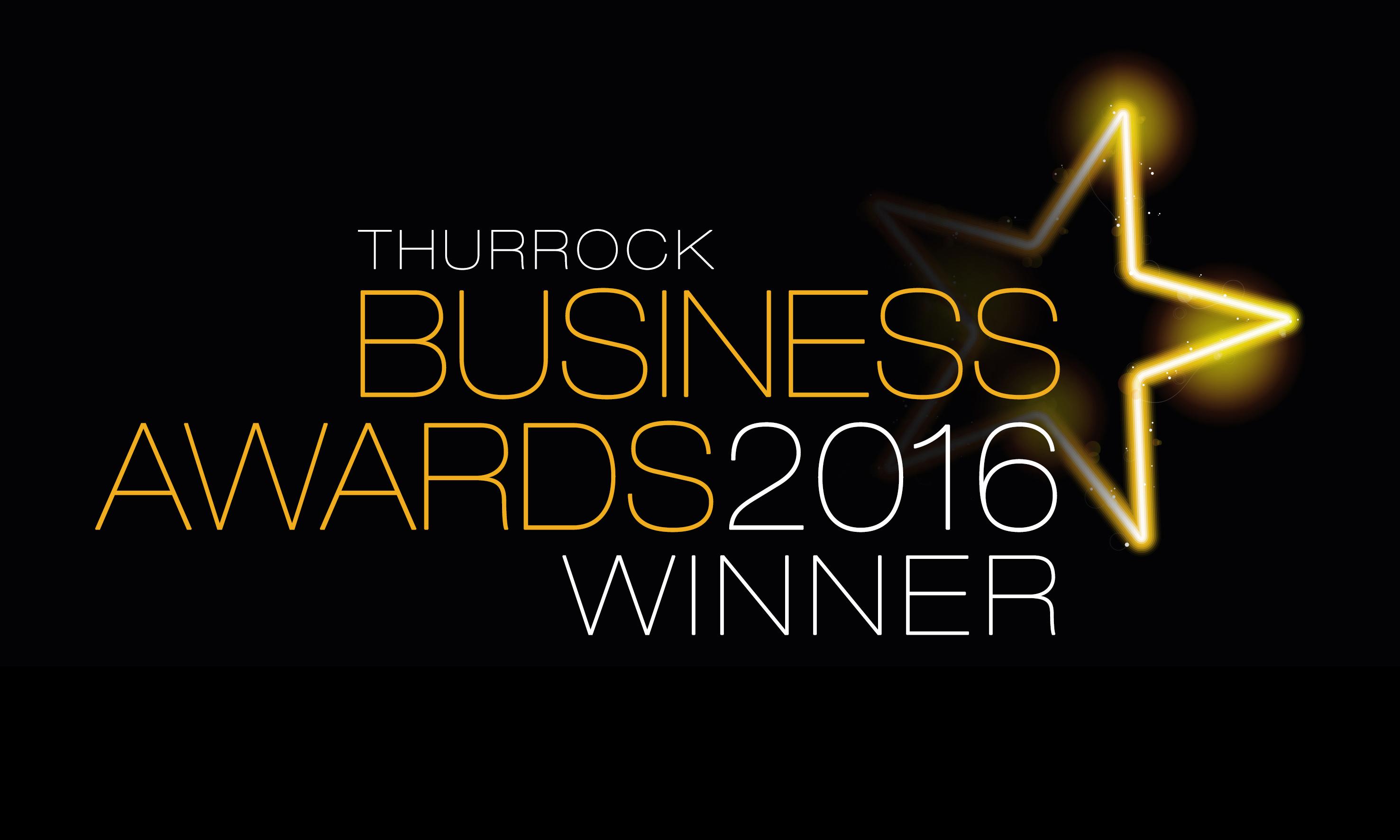 Business Awards Logo 2016 Thurrock Winner